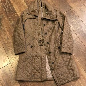 Coldwater Creek Polyester Tan Quilt Puffer Coat XS